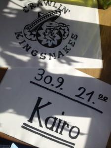 Poster Crawlin' Kingsnakes Kafé Karo